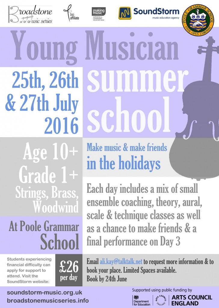 Broadstone-Music-Summer-School-2016-poster