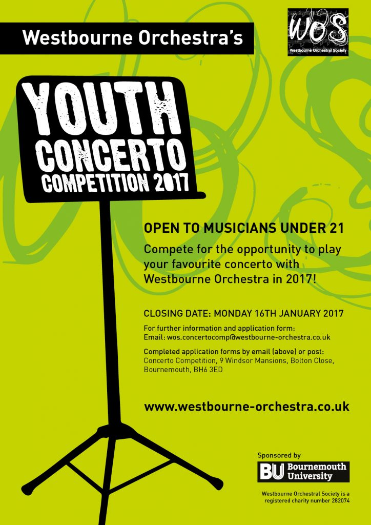 WOS Youth Concerto Competition poster rgb