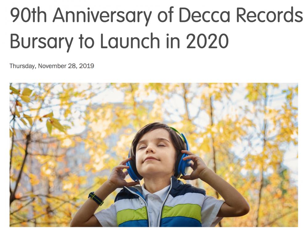 6146Decca Records Bursary