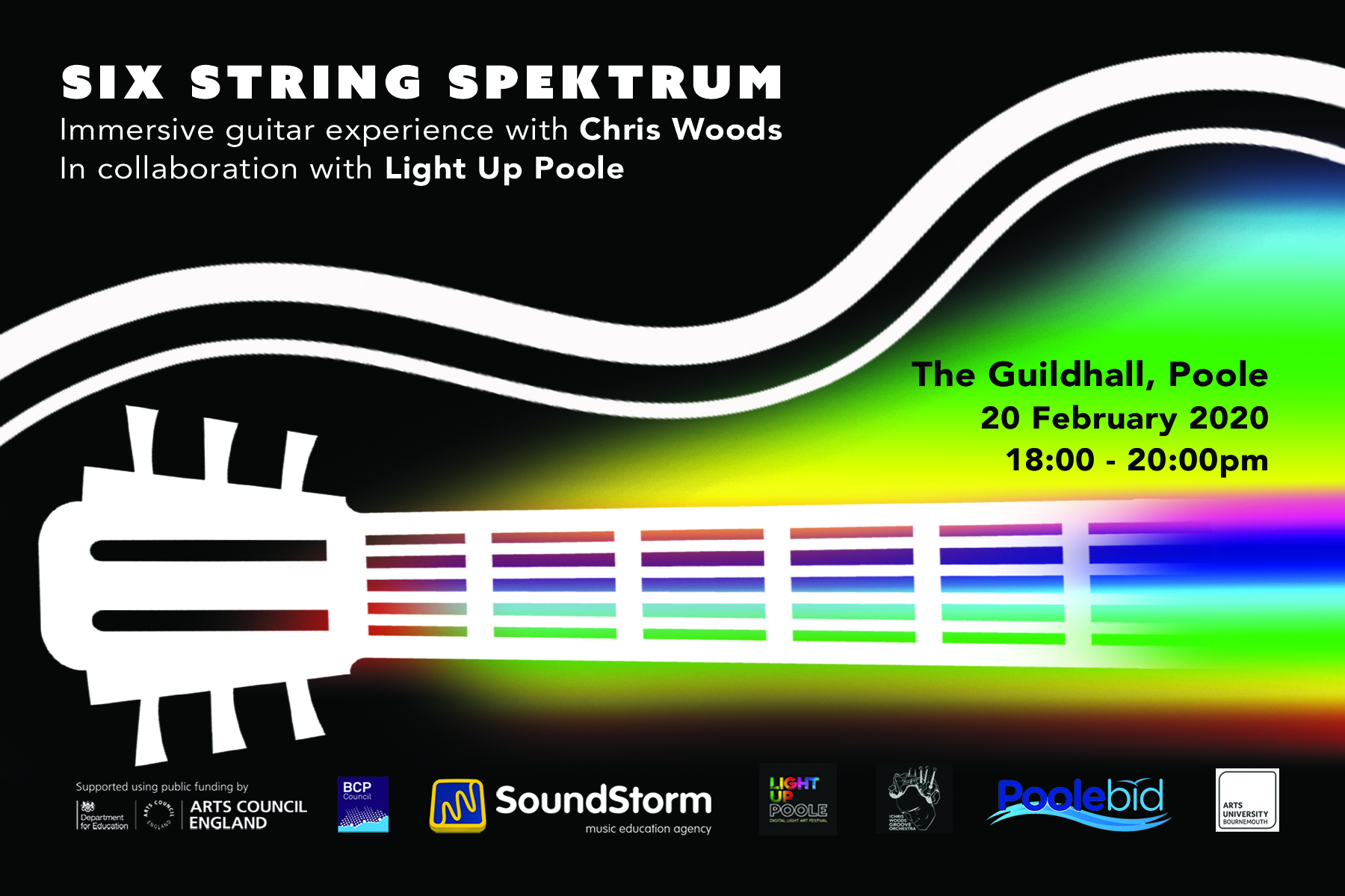 6156Six String Spektrum at Light Up Poole – Application